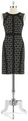 Donna Morgan Patterned A-Line Dress