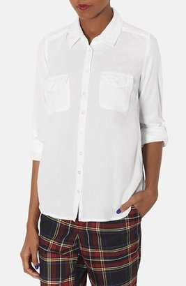 Topshop Chambray Work Shirt