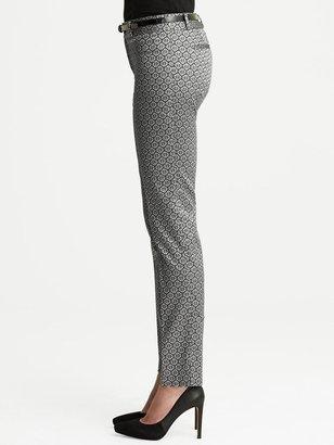 Banana Republic Camden-Fit Jacquard Skinny Ankle Pant