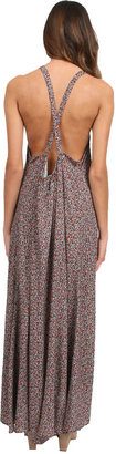 Tysa Leigh Dress in Brown Ditsy