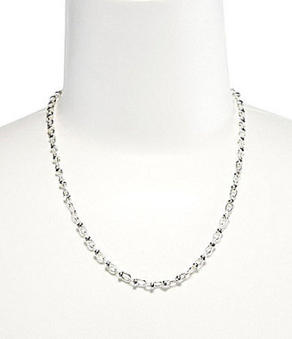 Dillard ́s Tailored Textured Oval Mix Chain Necklace