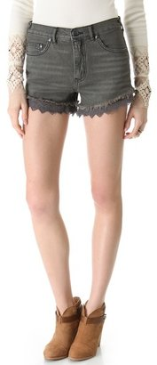 Free People Lace Cutoff Shorts