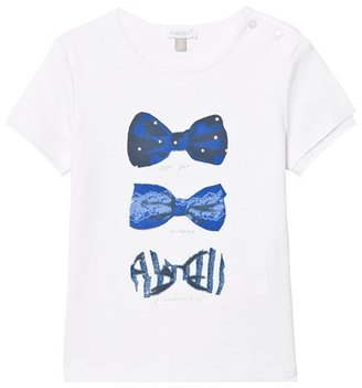 Absorba White with Blue Bow Print Tee
