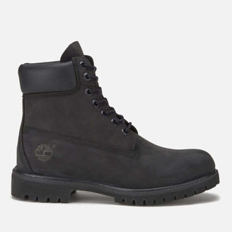 Timberland Men's 6 Inch Nubuck Premium Boots - Black
