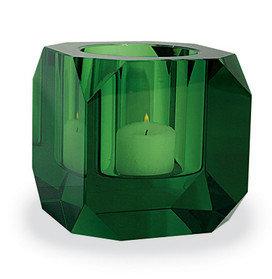 Seletti Square Crystal Tealight Green