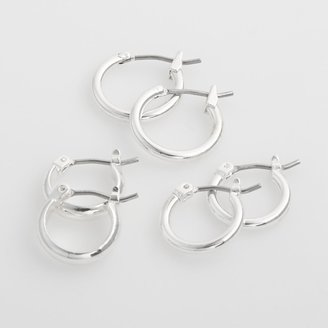 Croft & Barrow Sonoma Goods For Life SONOMA Goods for Life Silver Tone Hoop Earring Set