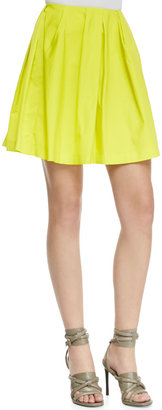 Thakoon Pleated Neon Tulle Skirt