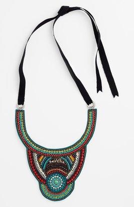 Spring Street 'Goddess' Beaded Bib Necklace Multi