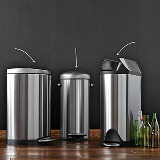 Williams-Sonoma Williams Sonoma simplehumanTM; Fingerprint-Proof Butterfly Trash/Recycler