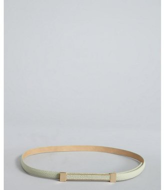 Vince Camuto mint stingray embossed leather thin belt