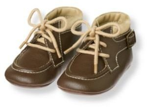 Janie and Jack Buckle Crib Boot