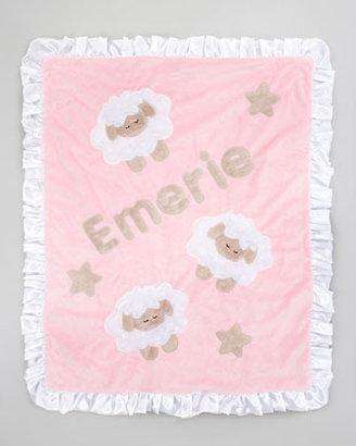 Boogie Baby Pink Sheep Blanket, Monogram