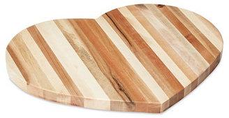 Side Grain Heart-Shaped Cutting Board