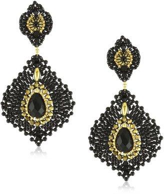 Miguel Ases Onyx Lotus Earrings