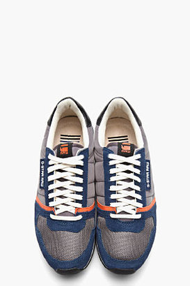 G Star G-STAR Navy Suede-Trimmed Futura Sneakers