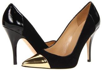 Kate Spade Liberty (Black Suede/Gold Specchio/Black Patent) - Footwear