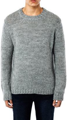 BLK DNM Alpaca-wool crew-neck sweater