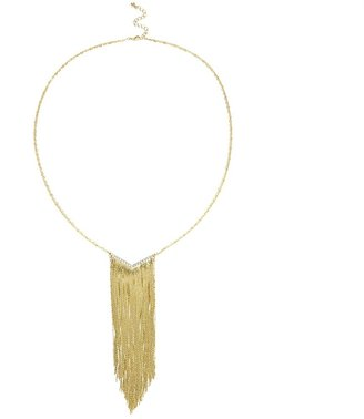 Sole Society Snake Chain Fringe Necklace