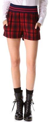 Harvey faircloth High Waisted Plaid Shorts