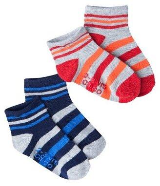 Circo Infant Toddler Boys' 2 Pack Stripe Socks - Blue/Red