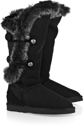 Australia Luxe Collective Nordic Angel rabbit and shearling boots