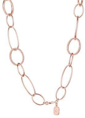 Lauren Ralph Lauren Rose Gold-Tone Link Collar Necklace