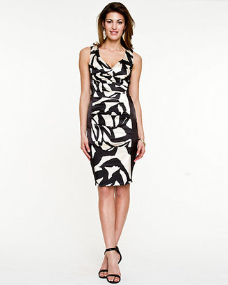 Le Château Abstract Print Shift Dress