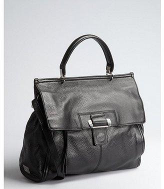 Kooba black pebbled leather 'Aiden' top handle satchel