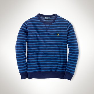 Polo Ralph Lauren Striped Terry Crewneck