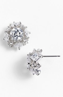 Givenchy Stud Earrings Clear/ Silver