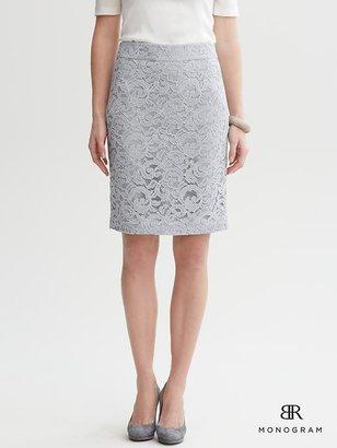 Banana Republic Lace pencil skirt