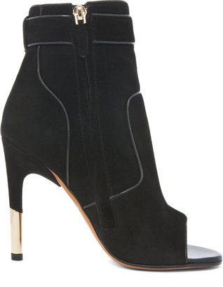 Givenchy Dunke Suede Nappa Shark Lock Bootie