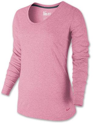 Nike Women's Loose DB Long-Sleeve Voop Training Shirt
