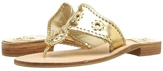 Jack Rogers Jacks Flat Sandal (White) Women's Sandals