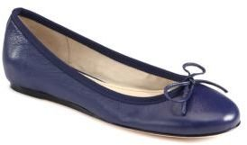 Saks Fifth Avenue 10022-SHOE Loralei Leather Bow Ballet Flats