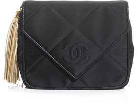 Chanel Quilted fabric clutch