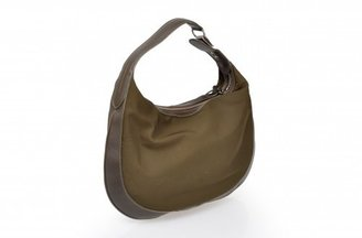 Hogan excellent (EX Olive Nylon & Leather Hobo Bag