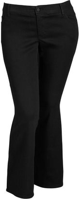 Old Navy Women's Plus The Rockstar Black Boot-Cut Jeans