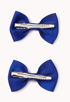 Forever 21 FOREVER 21+ Textured Bow Hair Clips
