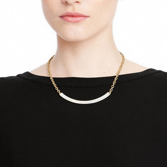 Coach Gold And Pave Bar Necklace