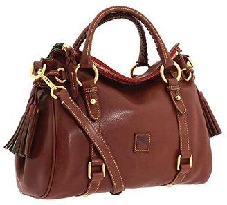 Dooney & Bourke Florentine Small Satchel (Chestnut/Self Trim) Handbags