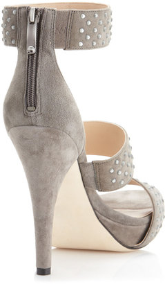 Via Spiga Angela Studded Wide-Strap Sandal, Granite