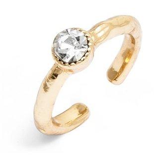 BaubleBar Gold Crystal Midi Ring