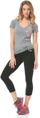 Aeropostale Heart Logo V-Neck Yoga Tee