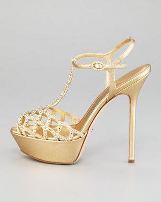 Sergio Rossi Crystallized Platform Sandal
