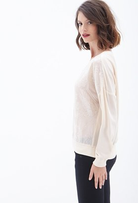 Forever 21 contemporary shimmering sequin pullover