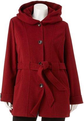 Apt. 9 hooded solid coat - women's plus