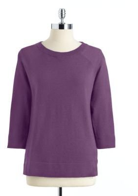 Lord & Taylor Cashmere Crewneck Sweater