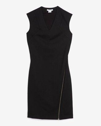 Helmut Lang Moto Zip Dress: Black