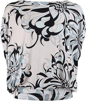 Emilio Pucci Azalee Print Asymmetrical Top